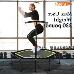 "48"" Mini Trampoline Fitness Exercise Gym Rebounder Cardio Tr"