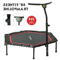"48"" Foldable Mini Fitness Trampoline Rebounder Exercise Work"