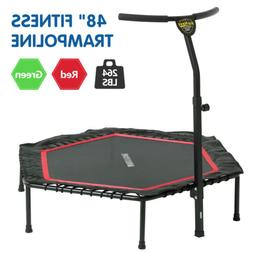 "48"" Rebounder Mini Trampoline Exercise Bounce W/ Adjustable"
