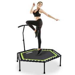 OneTwoFit 48 Silent Mini Trampoline with Adjustable Handle B