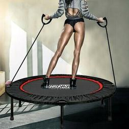 48in Foldable Mini Fitness Trampoline Rebounder Exercise Wor