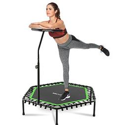 ANCHEER 50'' Fitness Trampoline, Silent Mini Trampoline with