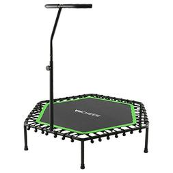 "ANCHEER 50"" Trampoline with Adjustable Handrail, T Handle"