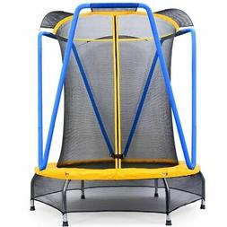 Zupapa 54 inch 4.5FT Indoor Small Trampoline for Kids Childr