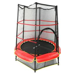 55 inch Round Trampoline With Safety Pad Enclosure Combo for