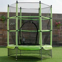 """55"""" Kids Youth Exercise Jumping Round Trampoline w / Safety"""