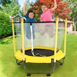12Ft Kids Trampoline With Enclosure Net Jumping Mat And Spri