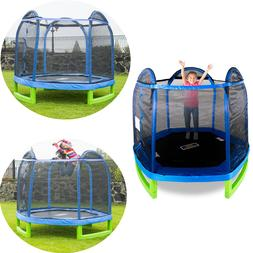 Bounce Pro 7-Foot My First Trampoline Hexagon Blue/Green For