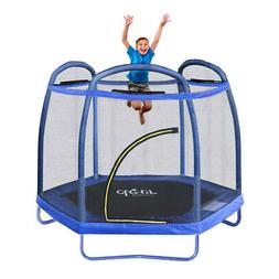 Clevr 7 Ft. Trampoline Bounce Jump Safety Enclosure Net W/ S