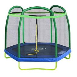Clevr 7Ft Kids Trampoline With Safety Enclosure Net & Spring
