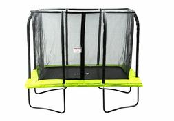 7x10FT Rectangle Outdoor Trampoline with Intra Enclosure Net