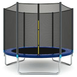 8 FT Trampoline Combo Bounce Jump Safety Enclosure Net W/Spr