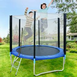 8ft Trampoline With Safety Net Enclosure Light Outdoor Backy