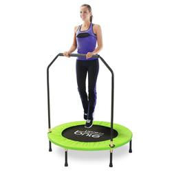 Pure Fitness 40 In. Aerobic Workout Mini Trampoline With Han