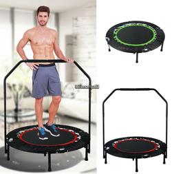"""Ancheer Fitness Exercise Trampoline W/ Handle Bar 40"""" Foldab"""