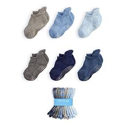 LA Active Baby Toddler Grip Ankle Socks - 6 Pairs - Non Slip