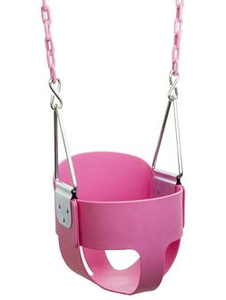 High Back Full Bucket Toddler Swing Seat with Plastic Coated