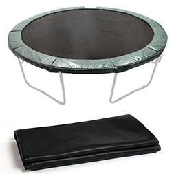 Rapesee New Black 12.4' Jumping Mat for 14' Trampoline Repla