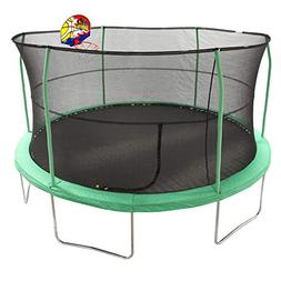 JumpKing 15' Bounce N' Dunk Trampoline & Enclosure Combo wit