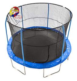 JumpKing 12' Bounce N' Dunk Trampoline & Enclosure Combo wit