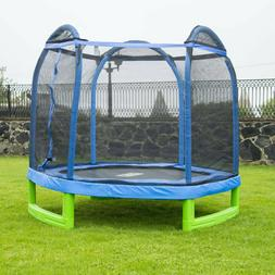 Foldable Activity Sport Trampoline Hexagon Blue Green with A