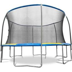Bounce Pro 12' Trampoline with Flash Light Zone and Safety N