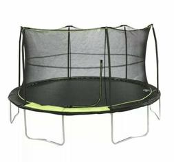 14' BouncePro Trampoline & Enclosure & Electron Shooter Game
