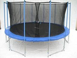 Exacme C14 6W Legs Trampoline Enclosure Net & Ladder All-in-