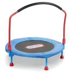 Children's Easy Store 3-Foot Trampoline, with Hand Rail, Blu