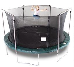 Durable 15-Ft Trampoline, With Safety Enclusure, Electron Sh