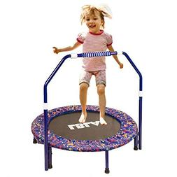 Ealing Kids Trampoline with Adjustable Handrail and Safety P