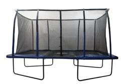 "Easy Assemble ""Spacious"" 8' X 14' Rectangular Trampoline wit"