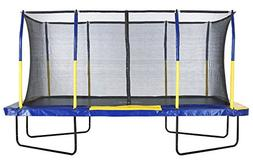 "Easy Assemble ""Spacious"" 9' X 15' Rectangular Trampoline wit"