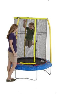 Bazoongi Elephant Trampoline with 3 Poles Enclosure System,