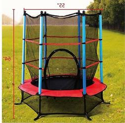 "Exercise 55"" Round Kids Youth Jumping Trampoline W/ Safety P"