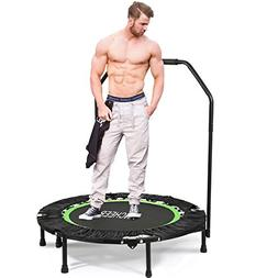 "ANCHEER Fitness Exercise Trampoline with Handle Bar, 40"" Fol"