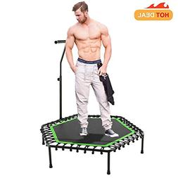 "40"" Fitness Exercise Trampoline Foldable with Adjustable Han"