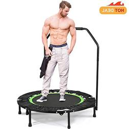 "Fitness Exercise Trampoline with Adjustable Handle 40"" Folda"