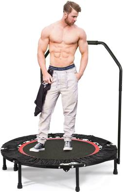 """Fitness Exercise Trampoline with Handle Bar, 40"""" Foldable Re"""