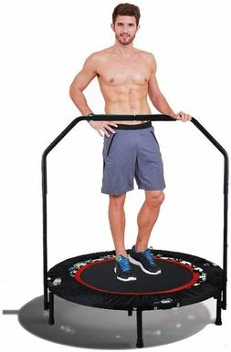 Foldable Mini Trampoline Rebounder w/ Safety Handle Bar Indo