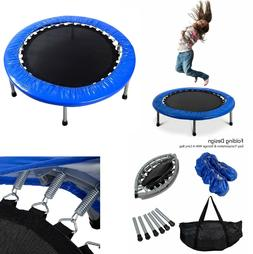 Foldable Mini Trampoline with Padding and Springs Safety Jum