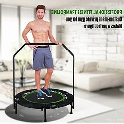 ANCHEER Foldable Rebounder Trampoline with Adjustable Handle