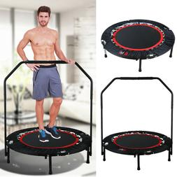 Folding Mini Rebounder Trampoline With Hand Rail Bouncing Wo