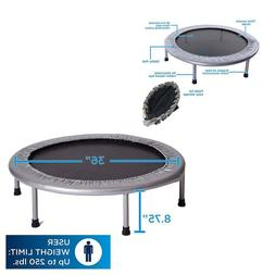 Folding Mini Trampoline Fitness Home Gym Jump Workout Stabil