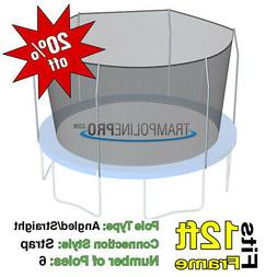 12' Round Trampoline Safety Net for 6 Straight Pole Enclosur