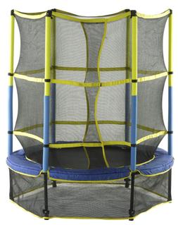 Upper Bounce 55-Inch Kid-Friendly Trampoline and Enclosure S