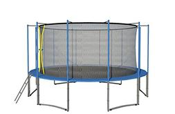 ExacMe 16' Ft 6W Legs Trampoline w/ Safety Pad and Enclosure