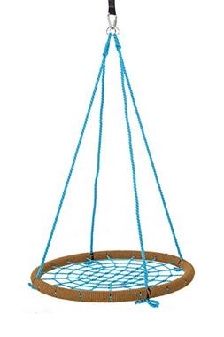 "SkyBound Giant Round 40"" Tree Swing Net - Tan & Blue"