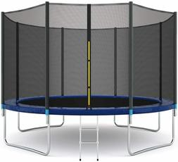 12FT Kids Trampoline Outdoor With T connector +Enclosure Net