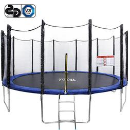 ANCHEER 15 14 12 FT GS Approved Round Trampoline with Safety